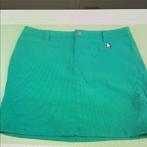 Athleta Dipper skort teal green mesh inner shorts